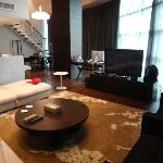 living room of penthouse suite