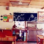 the counter(la caja)