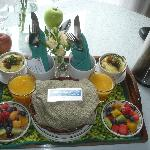 Breakfast brought to your room -always outstanding!