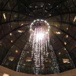 Beautiful chandelier in the main sitting/lobby area