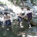 swimming hole on day 2 hike