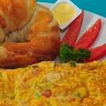 Veggie Omelet with Croissant
