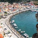 Parga harbour from the castle