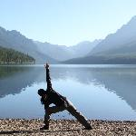 1st morning at Bowman lake