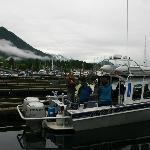 Captain Ryan and trusty craft in Sitka.