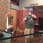 great demo of glass making.