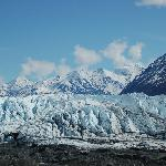 Looking up at the Matanuska Glacier