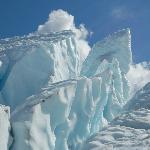 On the glacier trek
