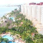 Desde el balcón vista hacia el Resort