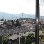 Azumino mountain view from room