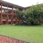 quiet hotel garden