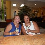 My Cousin and I enjoyin our drinks