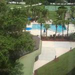 View of the Pool Area from my 6th floor room. The grounds were immaculate. <3
