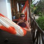 chilling on our hammock