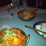 cochin coconut lamb and chicken tikka bhuna
