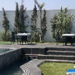 Oualidia's hotel pool area