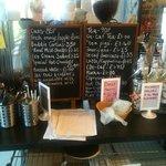 menu in stray cafe