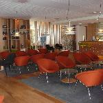 Hotel lounge - Modern and chic and surprising considering the outside of the hotel