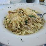 Soft-shell crabs and linguini