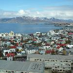 View of downtown Reykjavik from top of Hallgrimskirkja