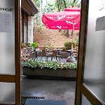 looking through the main door