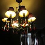 one of many of the lovely chandeliers
