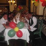 My birthday party and our lovely waiter Javier