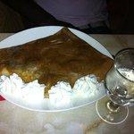 Crêpe banane-chocolat-crême fouettée
