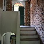 The stairs to our rooms