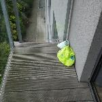 Nappies on the balcony