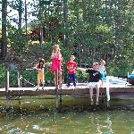 Kids LOVED fishing off the dock.