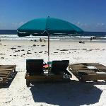 beach chairs included in our rent for free!
