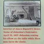 Drawing of Interior of the Bennett House