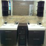 Bathroom with His and Her sinks
