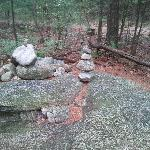 the rock formation at the end of the trail