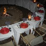 Dinner on the small boma.