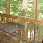 screened porch of our room