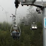 Chairlift up to the top of the mountain