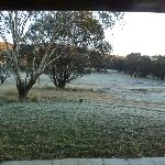 Early morning frost - from our verandah