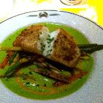 Fresh Halibut~ divine! Try dining at the beautiful lounge~ excellent service by Master Mixologis
