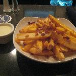 bacon fries, 9 p.m., hotel bar, Four Points