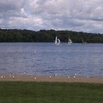 Sailboats on Cowan Lake