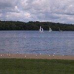 Sailboats on Cowan Lake