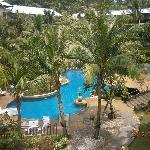 Bottom pool with swim up bar & plenty of places to retreat!!