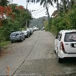View up the hill to Horizon Karon Resort
