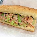 Lobster roll.  Cool and refreshing.