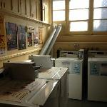 The laundromat - two small washers and dryers