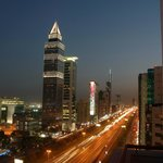 view of Sheikh Zayed Road from the hotel guest room