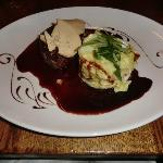 The fillet steak with foie gras and port sauce main