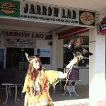 bird show outside the jarrow lad